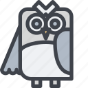 animal, avatar, character, owl, wild icon