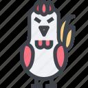 animal, avatar, character, chicken, wild icon