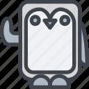 animal, avatar, character, penguin, wild icon