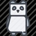 animal, avatar, character, panda, wild icon