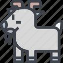 animal, avatar, character, goat, wild icon