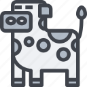 animal, avatar, character, cow, wild icon