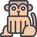 animal, avatar, character, monkey, wild icon