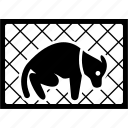 animal, cage, captive, cruelty, dog, locked, pet icon