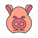 animal, avatar, cute, face, pig icon