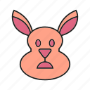 animal, bunny, cony, face, hare, pet, rabbit icon