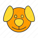 animal, avatar, cute, dog, face, pet icon
