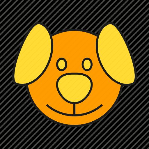 animal, avatar, cute, dog, face, pet icon