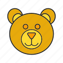 animal, avatar, bear, cute, face icon