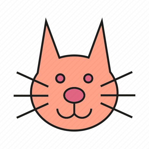 animal, avatar, cat, cute, face, pet icon