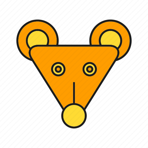 animal, avatar, cute, face, mouse, mousy, rat icon
