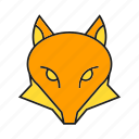 animal, avatar, cute, face, fox, vixen icon