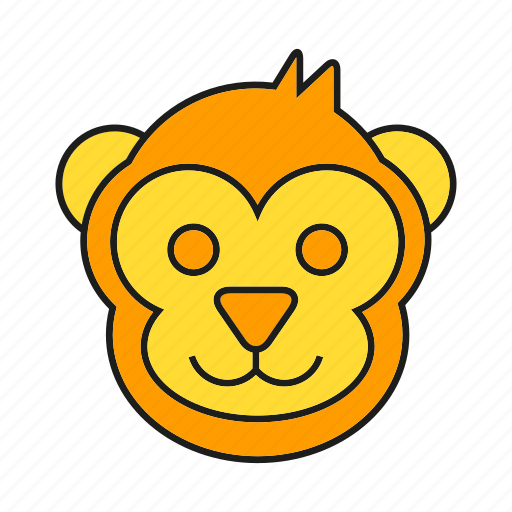 animal, avatar, cute, elf, face, monkey icon