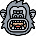 kingkong, gorilla, ape, scary, wildlife