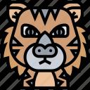 tiger, panther, jungle, predator, wildlife icon