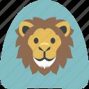 lion, lion king, wild life, zoo icon