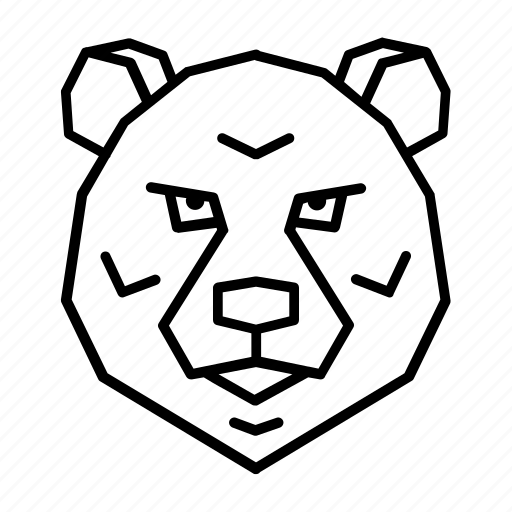 animal, bear, face, grizzly, head, polar, wild icon