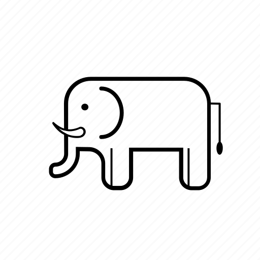 animal, elephant, forest, jungle, nature, safari, zoo icon
