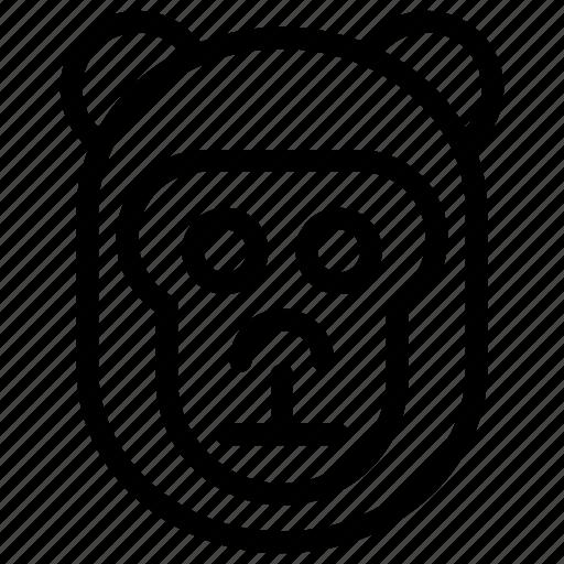 animal, chimpanzee, gorilla, monkey icon
