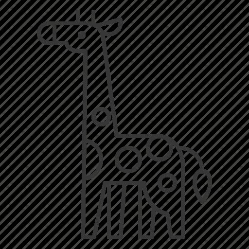 animal, giraffe, mammal, wildlife, zoo icon