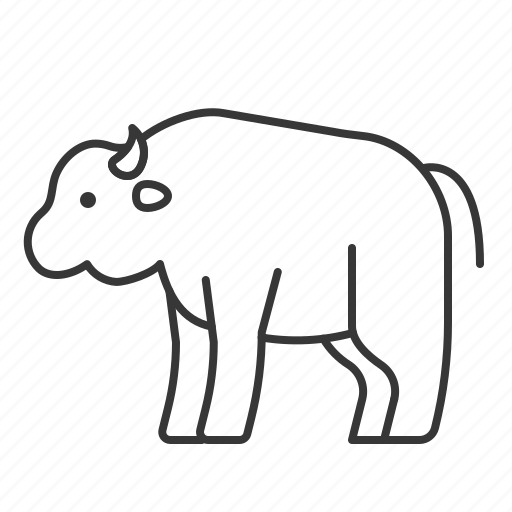 animal, bison, mammal, wildlife, zoo icon