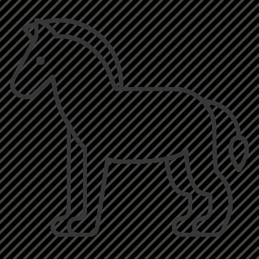 animal, horse, mammal, wildlife, zoo icon