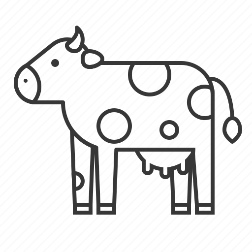 Animal, cow, mammal, wildlife, zoo icon - Download on Iconfinder