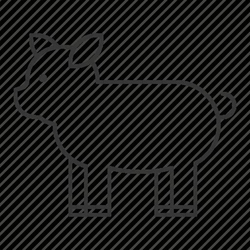 animal, mammal, pig, wildlife, zoo icon