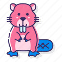 animal, beaver, rodent icon