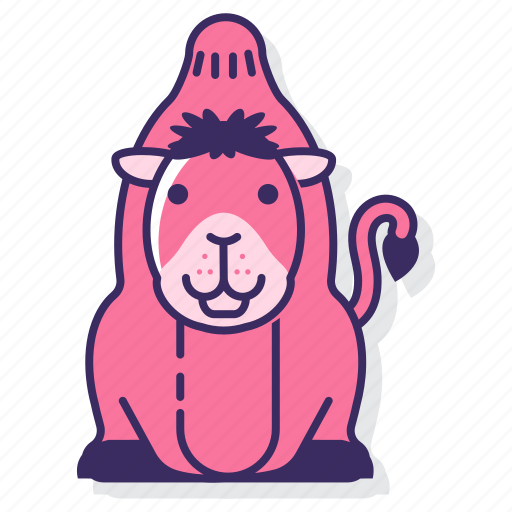 animal, camel, desert icon