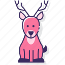 deer, antlers, animal icon