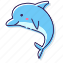 dolphin, animal, sea icon