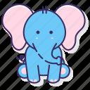 elephant, mammal, zoo icon