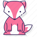 fox, animal, wild