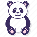 giant, panda, bear icon