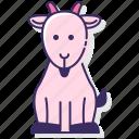 goat, animal, horns, mountain