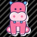 hippopotamus, animal, hippo