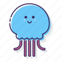 fish, jelly, jellyfish, medusa icon
