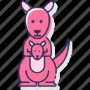 animal, australia, kangaroo, wild icon