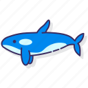 killer, orca, whale icon
