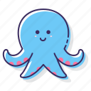 octopus, animal, sea, squid