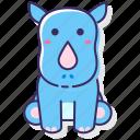 rhinoceros, animal, rhino