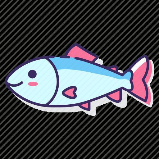 fish, river, salmon icon