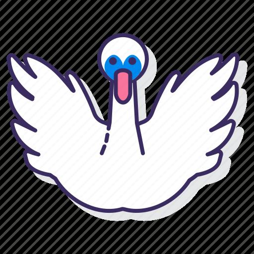 bird, swan, water icon