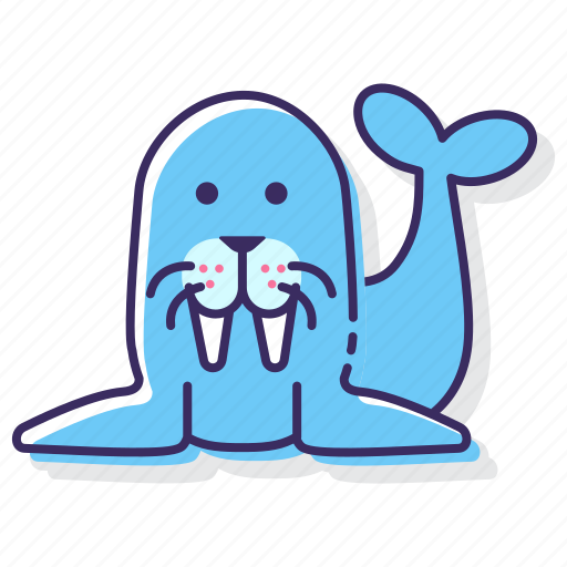 Walrus, animal, sea icon - Download on Iconfinder