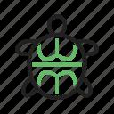 green, ocean, reptile, sea, swimming, turtle, underwater