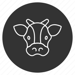 beef, bull, cattle, cow head, horns, neat, ox icon
