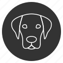at, bowwow, dog head, hound, pet, pooch, puppy icon