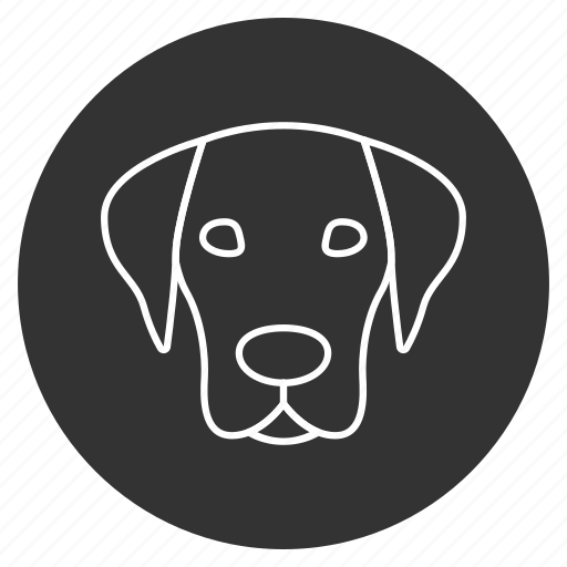 at, bowwow, dog head, hound, pet, pooch, puppy icon
