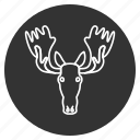 avatar, elk, head, horns, moose, power, wild animal icon